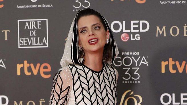 Macarena Gómez a su llegada a los Premios Goya