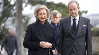 La reina Sofía ha acudido al funeral del Conde de París /Gtres