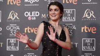 Amaia Romero, en la alfombra roja de los Goya / Gtres.