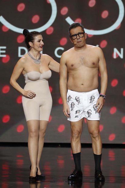 Silvia Abril y Andreu Buenafuente durante un momento de los Premios Goya