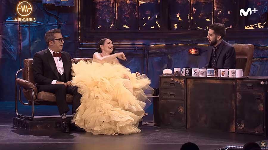 Andreu Buenafuente y Silvia Abril con David Broncano en 'La Resistencia'