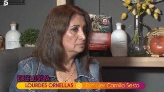 Lourdes Ornellas durante su entrevista /Mediaset