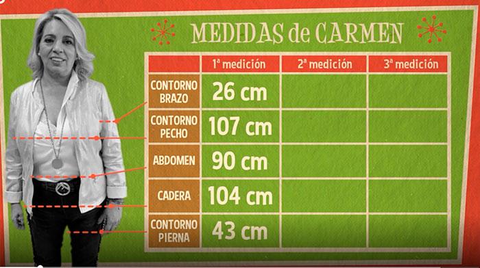 Carmen Borrego medidas