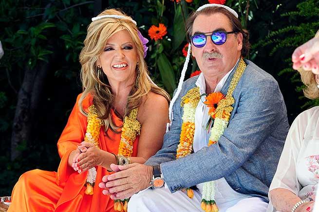 Lydia Lozano y su marido Charly