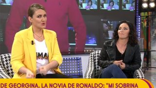 Lidia, la tía de Georgina, en 'Sálvame' / Telecinco.