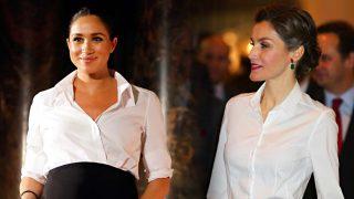 GALERÍA: Doña Letizia y otras VIP que adelantaron la fórmula de estilo que Meghan Markle promete convertir en tendencia / Gtres