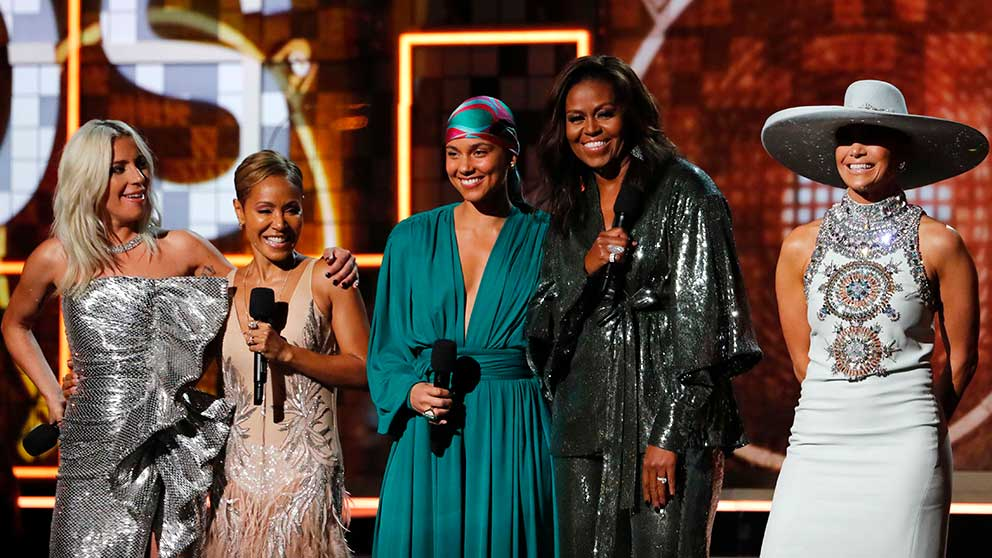 Lady Gaga, Jada Pinkett, Alicia Keys, Michelle Obama y Jennifer López