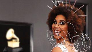 La artista Joy Villa en la 61 edición de los Premios Grammy. / Gtres
