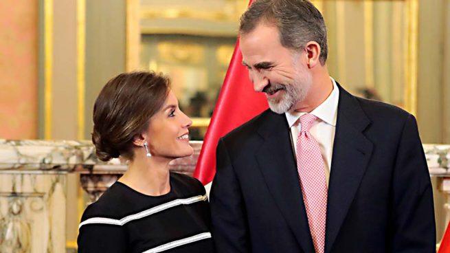 reyes felipe letizia beso san valentín