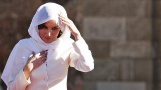 La Reina en el Mausoleo de Mohammed V / Gtres