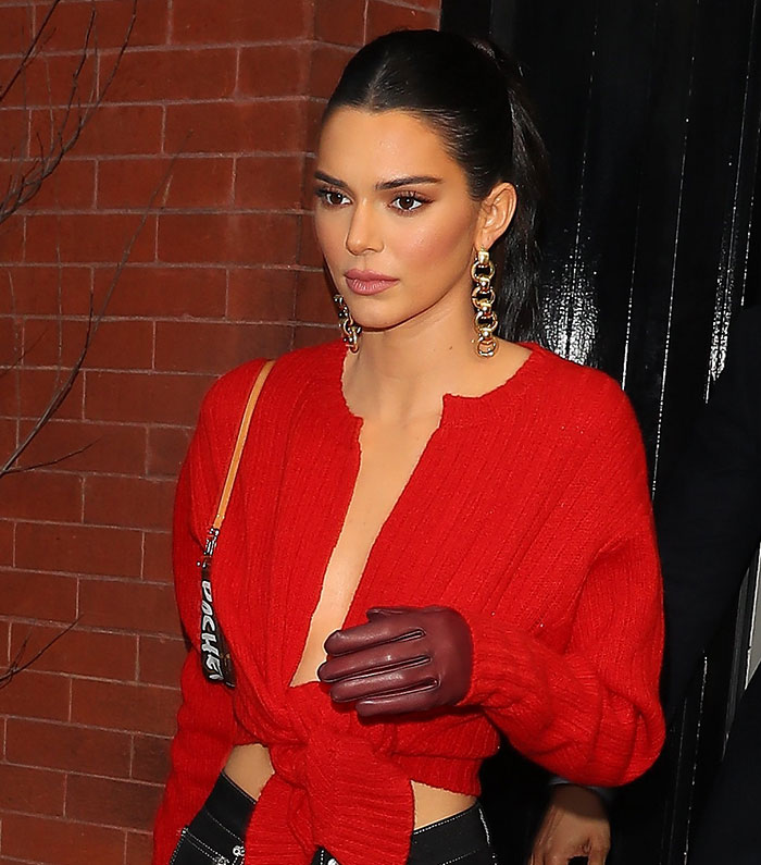 Kendall jenner guantes nueva york