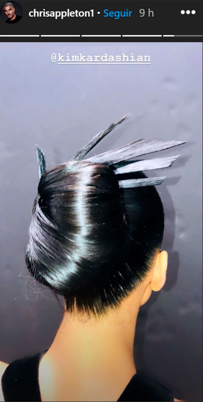 kim kardashian peinado