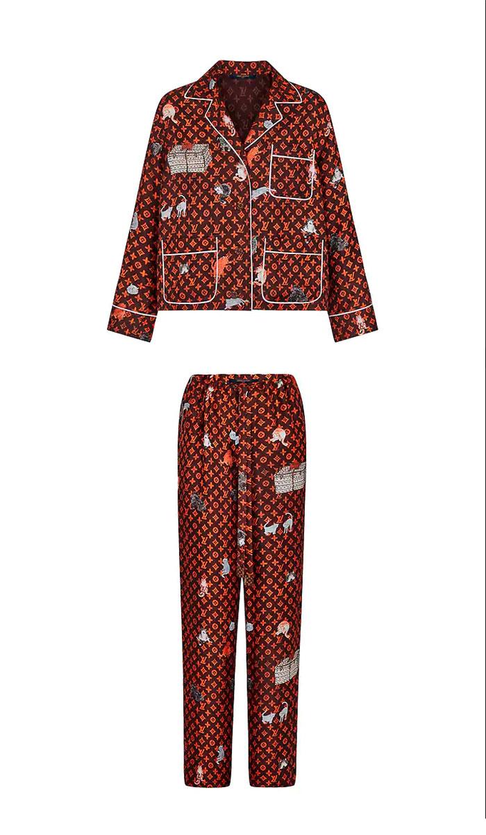 pijama luois vuitton georgina rodriguez