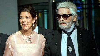 Karl Lagerfeld y Carolina de Mónaco en el último Baile de la Rosa / Gtres