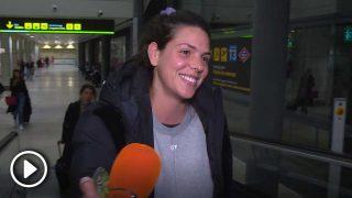 Laura Matamoros en el aeropuerto tras pasar unos días en Amsterdam / Gtres