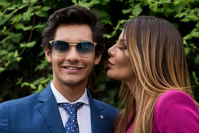 Ivonne Reyes y su hijo, Alejandro Reyes