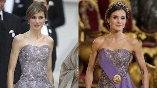 La reina Letizia lució el mismo vestido ocho años atrás /Gtres