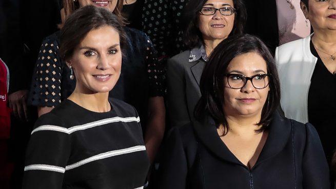 Maribel Díaz y la reina Letizia