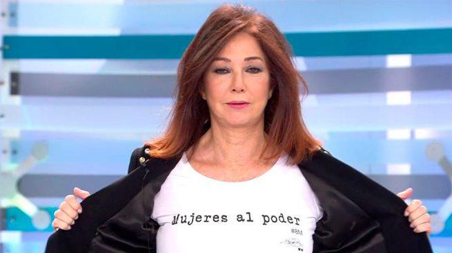 3cdc9fea20d4 Ana Rosa Quintana y el secreto de su camiseta feminista en el Día de ...