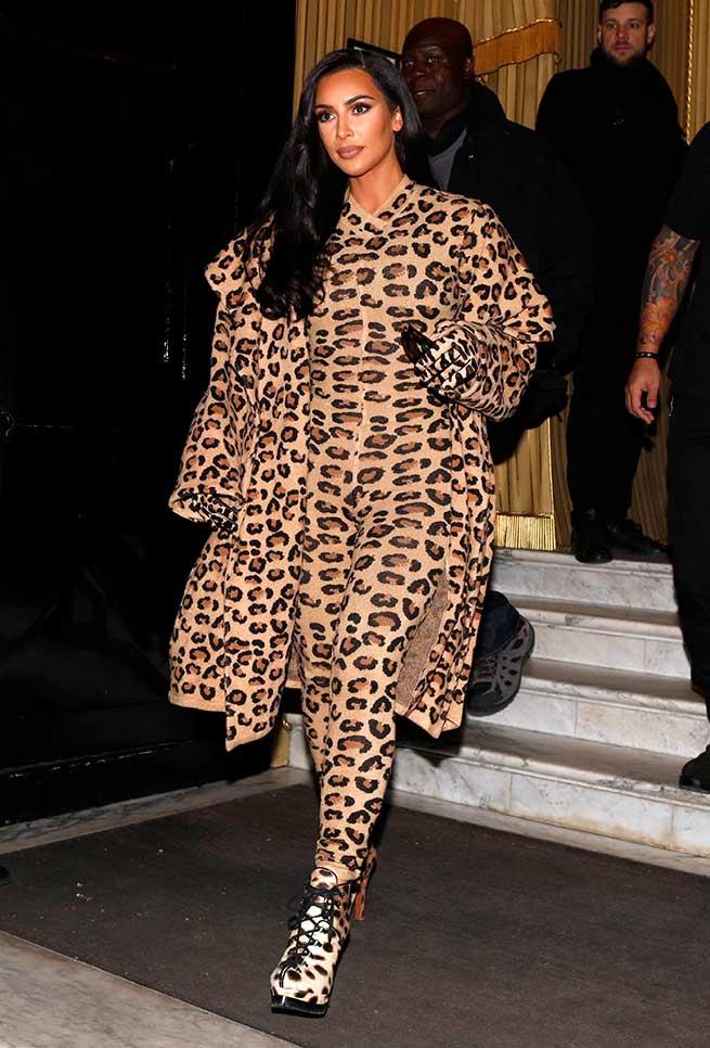 kim kardashian animal print