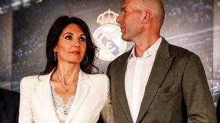 Véronique Zidane y el entrenador del Real Madrid, Zinedine Zidane. / Gtres