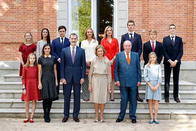 Foto oficial de la Familia Real Española