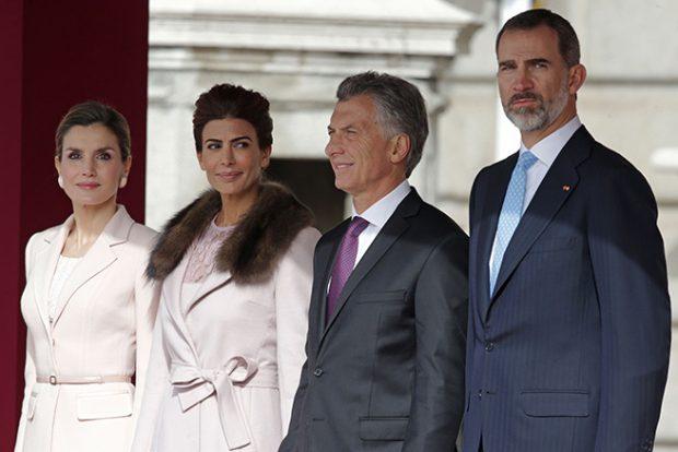 Reina Letizia, rey Felipe,, Juliana Awada, Mauricio Macri