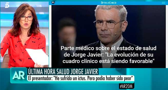 El cariñoso mensaje de Ana Rosa Quintana a Jorge Javier