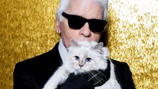 El diseñador Karl Lagerfeld y su gata Choupette. / @choupettesdiary