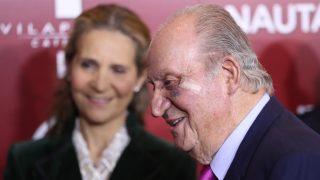 El rey Juan Carlos sorprendió con el ojo morado / Gtres.