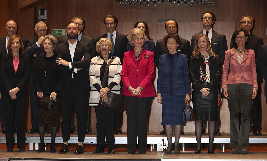 La Reina Sofía presidiendo la reunión del patronato de la Escuela Superior de Música que lleva su nombre