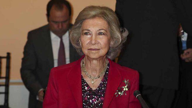 La Reina Sofía durante su última aparición pública