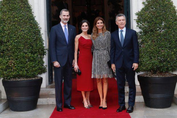 Los Reyes y los Macri en el Four Seasons