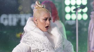 Christina Aguilera, durante uno de sus shows / Gtres.
