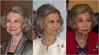 Los tres rostros de la reina Sofía en una semana / Gtres.