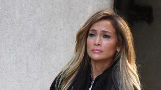 Jennifer Lopez durante un rodaje en Nueva York / Gtres