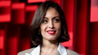Hiba Abouk fue una de las más guapas de la fiesta de Netflix, donde acudió en solitario / Gtres