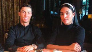 Georgina y Cristiano, comiendo en un restaurante de Turín / Instagram