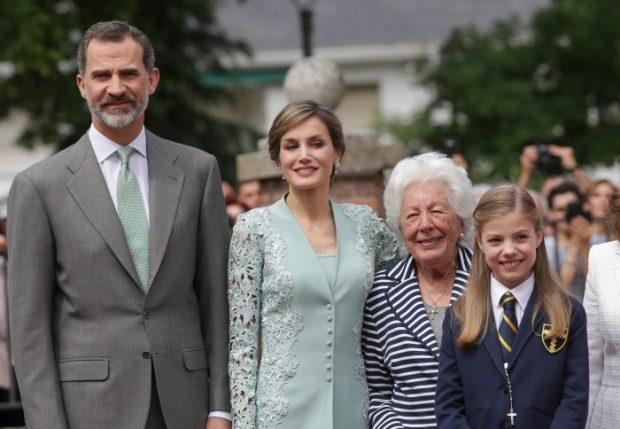 El rey Felipe, la reina Letizia, Menchu Álvarez del Valle