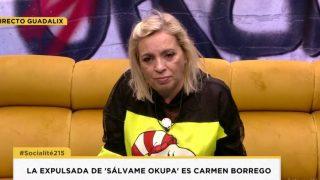 Carmen Borrego se despide de 'Sálvame Okupa' / Telecinco.