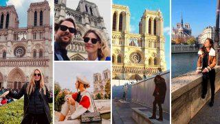 Los famosos comparten sus recuerdos inolvidables en la catedral de Notre Dame