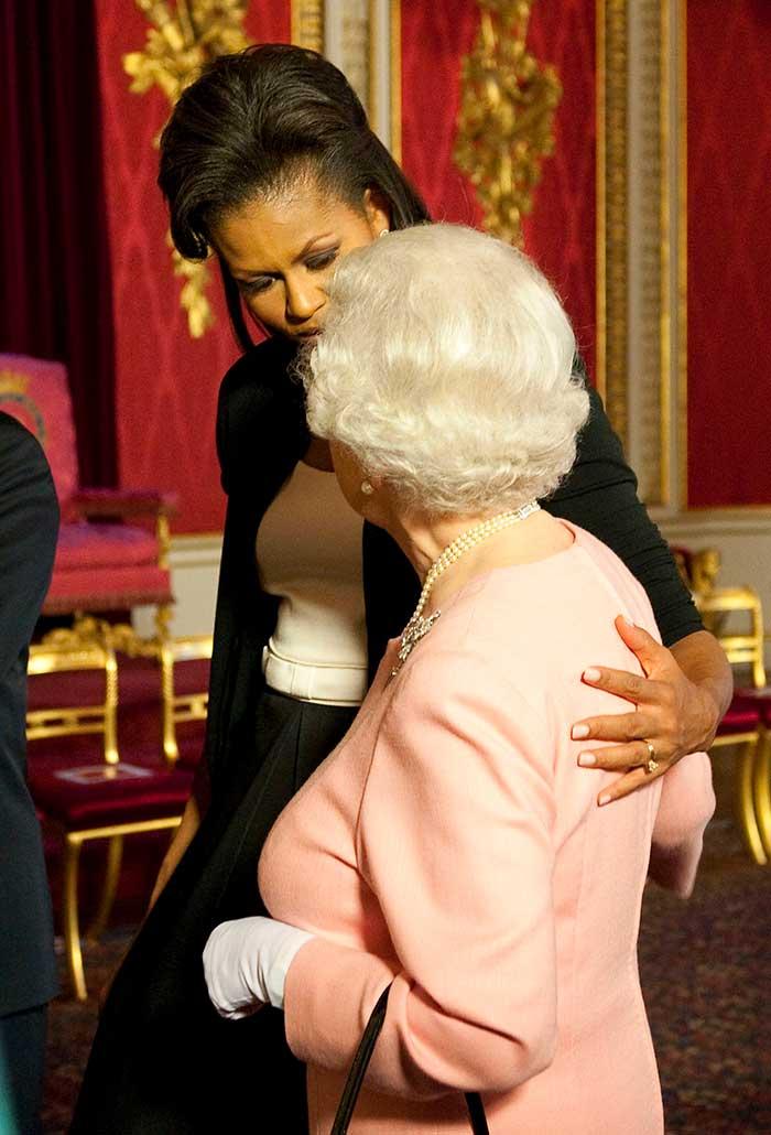 Michelle Obama y la Reina Isabel II