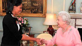 Michelle Obama e Isabel II, durante una visita oficial / Gtres