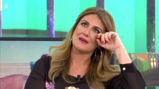 Carlota Corredera, emocionada en 'Sálvame' / Telecinco.