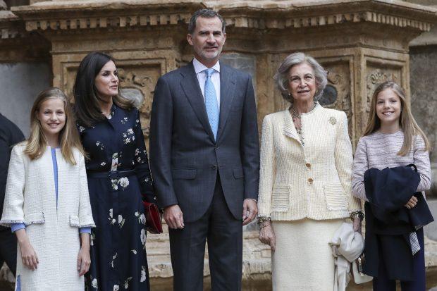 La Familia Real a las puertas de la catedral de Palma / Gtres