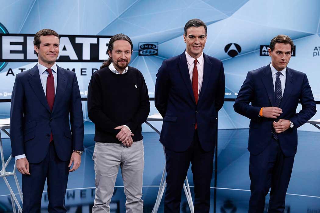 Los candidatos a la presidencia en el Debate de Antena 3