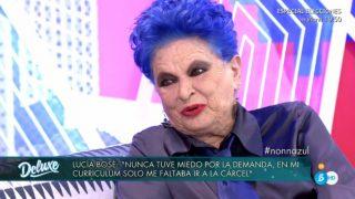 Lucía Bosé, en su entrevista con 'Sábado Deluxe' / Telecinco.