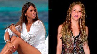 Antonella Roccuzzo y Shakira / Fotomontaje LOOK