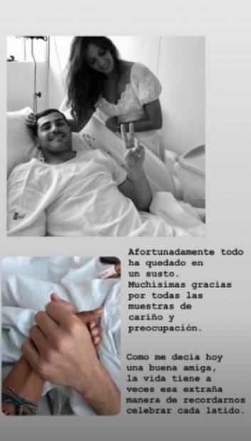 Iker Casillas y Sara Carbonero rompen su silencio tras el susto