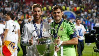 Sergio Ramos e Iker Casillas celebrando uno de sus éxitos deportivos / Gtres.